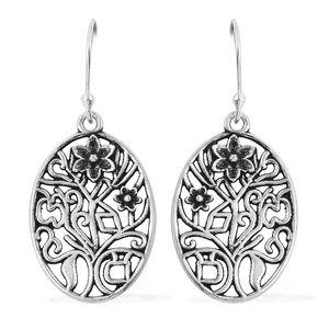 Sterling Silver Floral Earrings (5.3 g)