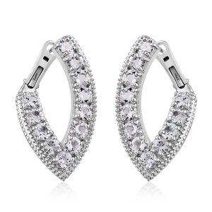 Brazilian Goshenite Platinum Over Sterling Silver Latch Back Earrings TGW 3.90 cts.
