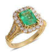 ILIANA 18K YG Boyaca Colombian Emerald, Diamond Ring (Size 7.0) TDiaWt 0.84 cts, TGW 2.64 cts.