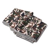 ICE TOWEL- Set of 3 Blue Camouflage Print 80% Polyester and 20% Nylon Reusable Environment Friendly and Energy-Efficient (90x30 cm)
