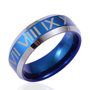 ION Plated Blue and Tungsten Carbide Men's Ring (Size 10.5)