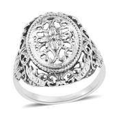 Sterling Silver Floral Ring (Size 7.0) (5.6 g)