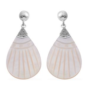 Bali Legacy Collection White Shell Sterling Silver Earrings TGW 7.00 cts.