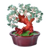 Green Aventurine Chips, Chroma, Copper Decorative Tree (7x4 in) TGW 475.00 cts.