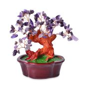Resin, Amethyst Copper Stone Tree (7x6 in) TGW 1825.00 cts.