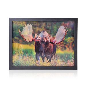 Moose 3D Printed Framed Picture (17x13 in)