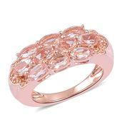 Marropino Morganite Vermeil RG Over Sterling Silver Ring (Size 5.0) TGW 2.15 cts.