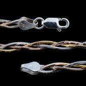 Tricolor Sterling Silver Chain (24 in)