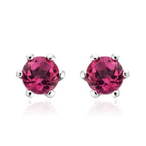 Pure Pink Mystic Topaz Platinum Over Sterling Silver Stud Earrings TGW 1.24 cts.