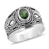 Bali Legacy Collection Russian Diopside Sterling Silver Ring (Size 8.0) TGW 1.32 cts.