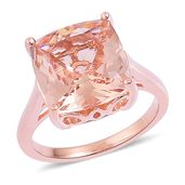 Marropino Morganite 14K RG Over Sterling Silver Ring (Size 10.0) TGW 7.25 cts.