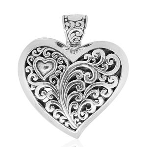 Bali Legacy Collection Sterling Silver Heart Pendant without Chain (9.3 g)