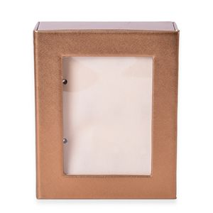 Gold 4 Page Earrings Book with Transparent window (8.6x7.1x2.5 in)