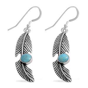 Santa Fe Style Kingman Turquoise Sterling Silver Earrings TGW 0.75 cts.