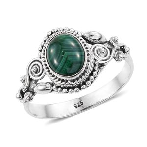 Artisan Crafted African Malachite Sterling Silver Ring (Size 7.0) TGW 2.58 cts.