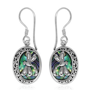 Bali Legacy Collection Abalone Shell Sterling Silver Earrings