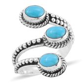 Bali Legacy Collection Arizona Sleeping Beauty Turquoise Sterling Silver Bypass Ring (Size 6.0) TGW 1.97 cts.