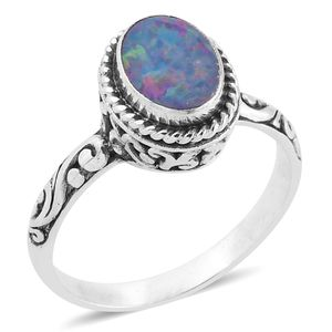Bali Legacy Collection Australian Boulder Opal Sterling Silver Ring (Size 7.0) TGW 1.24 cts.