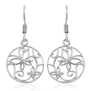 Sterling Silver Openwork Butterfly Earrings
