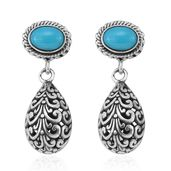 Bali Legacy Collection Arizona Sleeping Beauty Turquoise Sterling Silver Earrings TGW 1.33 cts.