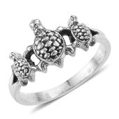 Artisan Crafted Sterling Silver Tortoise Ring (Size 10.0)
