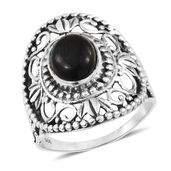 Artisan Crafted Shungite Sterling Silver Ring (Size 6.0) TGW 1.86 cts.