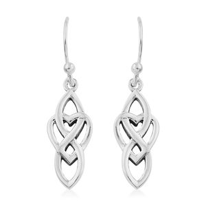 Artisan Crafted Sterling Silver Infinity Heart Earrings (2.95g)