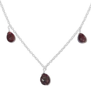 Artisan Crafted Mozambique Garnet Sterling Silver Drop Necklace (16 in) TGW 7.00 cts.