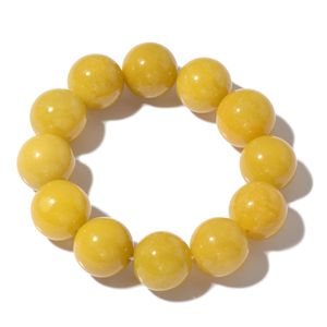 Burmese Yellow Jade Bracelet (Stretchable) (6.75 In) TGW 641.00 cts.