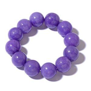 Burmese Purple Jade Bracelet (Stretchable) (6.50 In) TGW 626.00 cts.