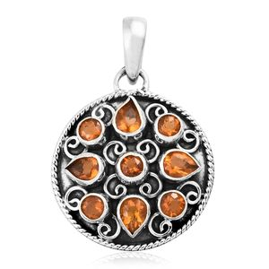 Salamanca Fire Opal Sterling Silver Pendant without Chain TGW 1.45 cts.