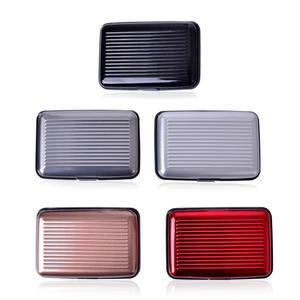 Set of 5 Multi Color Plastic, Aluminium RFID Card Holder (4x2.75 in)