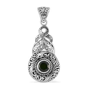 Bali Legacy Collection Russian Diopside Sterling Silver Pendant without Chain TGW 1.34 cts.