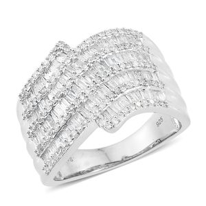 Diamond Sterling Silver Ring (Size 7.0) TDiaWt 1.75 cts, TGW 1.75 cts.