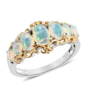 Customer Appreciation Day Ethiopian Welo Opal 14K YG and Platinum Over Sterling Silver Ring (Size 5.0) TGW 1.66 cts.