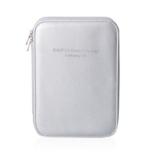 Silver Shop LC Book of Earrings with Zipper Closure 40 Latches, 24 Earring Pair, and Extra Pocket (10.5x3x7.5 in)