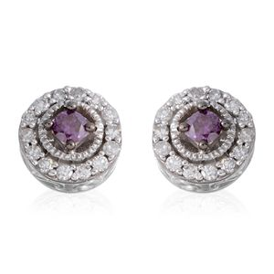 10K WG Purple Diamond (IR), Diamond Stud Earrings TDiaWt 0.33 cts, TGW 0.33 cts.