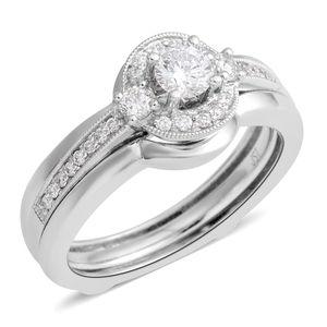 14K WG Diamond (H I1) Ring (Size 7.0) TDiaWt 0.50 cts, TGW 0.50 cts.