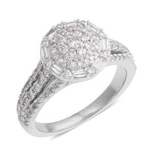 10K WG Diamond (I I1) Ring (Size 7.0) TDiaWt 1.00 cts, TGW 1.00 cts.
