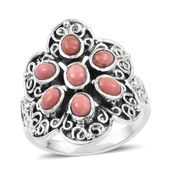 Artisan Crafted Oregon Peach Opal Sterling Silver Ring (Size 5.0) TGW 1.19 cts.