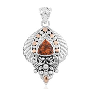 Bali Legacy Collection 18K YG Santa Ana Madeira Citrine Sterling Silver Pendant without Chain TGW 2.32 cts.