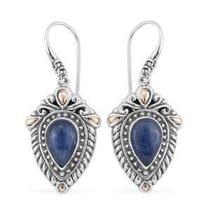 Bali Legacy Collection 18K YG Himalayan Kyanite Sterling Silver Earrings TGW 7.50 cts.
