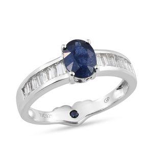 GP Masoala Sapphire, Multi Gemstone Platinum Over Sterling Silver Ring (Size 6.0) TGW 2.80 cts.