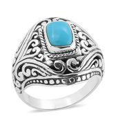 Bali Legacy Collection Arizona Sleeping Beauty Turquoise Sterling Silver Ring (Size 7.0) TGW 1.84 cts.