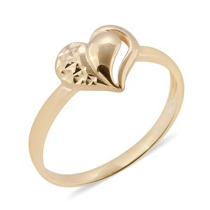 Bali Legacy Collection 10K YG Heart Ring (Size 7.0)