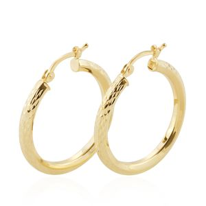 Bali Legacy Collection 10K YG Diamond Cut Hoop Earrings (1.7 g)