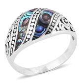 Bali Legacy Collection Abalone Shell Sterling Silver Ring (Size 9.0)