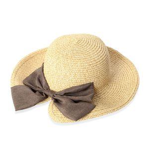 Natural Bowknot Cloche Hat