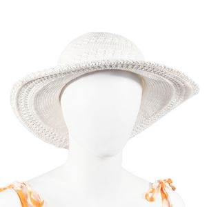 White 100% Cotton Crochet Beach Hat (One Size)