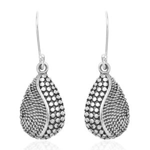 Sterling Silver Pear Earrings (5.37g)